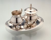 Cream / sugar set silvers