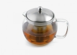 TEAPOT 1.2 L OF GLASS w. stainless steel